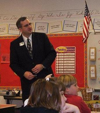 Alan Earnshaw at the Wescosville Career Day